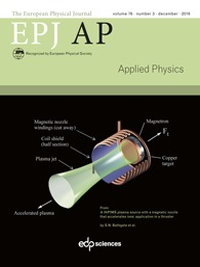 The European Physical Journal Applied Physics